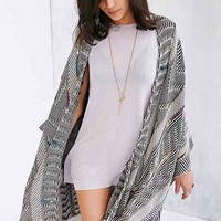 Ecote Prism Light Blanket Poncho Cardigan- Black One