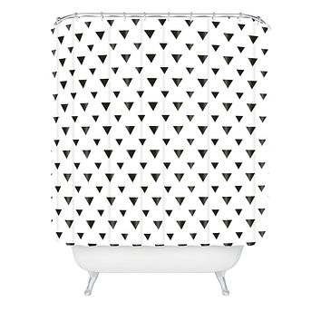 Allyson Johnson Upside Down Triangles Shower Curtain