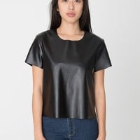 rsaplh305 - Vegan Leather T-Shirt