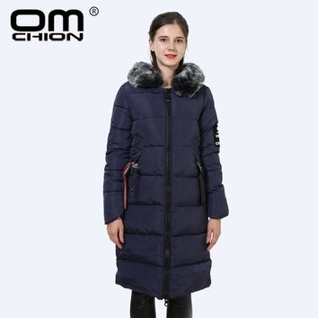 Women Parka Coats New Faux Fur Hooded Parka Long Sleeve Thicken Down Cotton Padded Coat