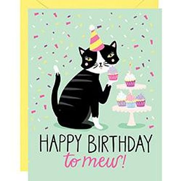 WASTE NOT PAPER HAPPY BIRTHDAY TO MEW CARD