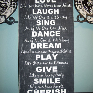 Subway art,Inspirational art, playroom art, typography Wall Art, Live Laugh Love