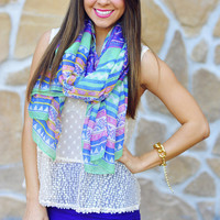 Let Your Colors Burst Scarf: Multi | Hope's