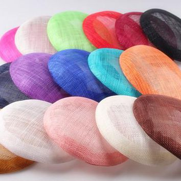 16 colors 15cm High quality sinamay base pillbox with grossgrain sweatband for fascinator hat kentucky derby races party church