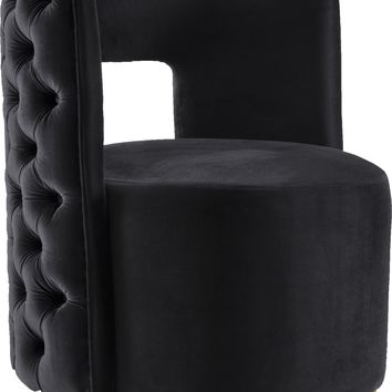 Theo Back Velvet Accent Chair