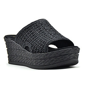 Reba Tomorrow Macrame Wedge Sandals