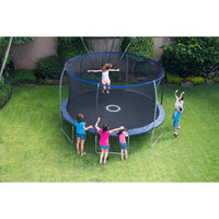 Walmart: BouncePro 14' Trampoline with Steel Flex Enclosure and Electron Shooter, Dark Blue