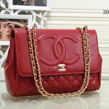 Chanel Temperament Simple Fashion Quilted Metal Chain Single Shoulder Messenger Bag Women Flip Handbag
