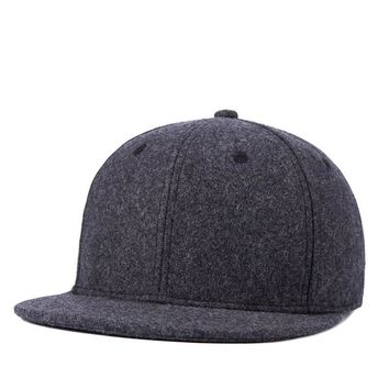 Male Wool Felt Snapback Caps Middle aged and elderly Men Winter Warm Baseball Hats 9 Colors