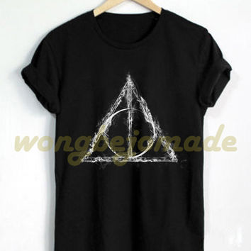 Harry Potter Shirt Deathly Hallows T Shirt Black Color Unisex T-Shirt