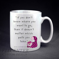 Alice in Wonderland Quote Personalized mug/cup