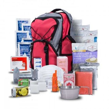 Wise Five Day Emergency Survival First Aid Kit with Food & Water for One Person (Red)