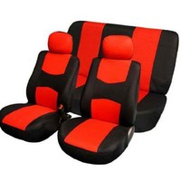 FH Group FB050112 Universal Car Seat Cover Full Set Red/black