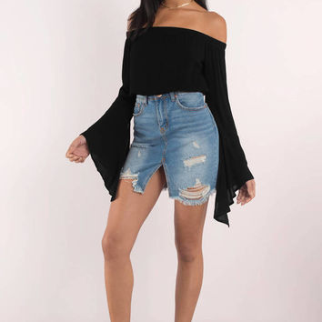Sonya Off Shoulder Crop Top