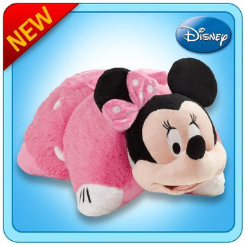 "Pillow Pets Authentic Disney 18"" Minnie Mouse, Folding Plush Pillow- Large"