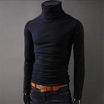 Men Winter Warm Turtleneck Pullover Thermal Sweater Multi color option Solid design Soft and Warm