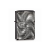 Zippo Cross Wave Ridge High Polish Black Chrome Armor Lighter