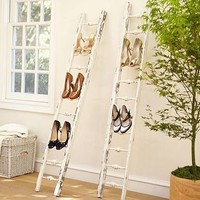 Wooden Shoe Ladder - eclectic - clothes and shoes organizers - by Pottery Barn