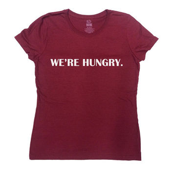 We're Hungry Shirt Pregnancy T-Shirt Pregnancy Announcement TShirt Pregnancy Reveal New Baby Gift For New Mom Funny Humor Tee - SA437