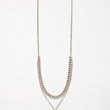 Mixed Chain Faux Crystal Necklace