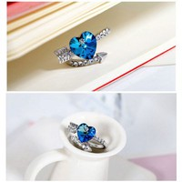 Cupid's Arrow and Heart Ring with SWAROVSKI ELEMENTS Design