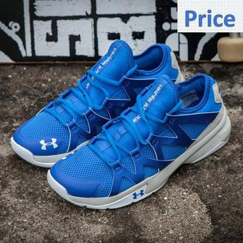 2018 Original UA Under Armour Charged Phenom 2 Running Royal White shoes
