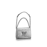 Tagre™ Authentic Louis Vuitton Epi Leather Twist PM Purse Handbag Article: M50323 Argent Made in France