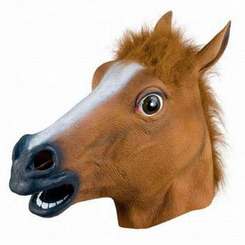 VONC4Y Halloween Horse Head - Funky Latex Mask
