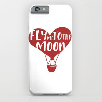 FLY ME TO THE MOON - Love Valentines Day Quote iPhone & iPod Case by deificus Art