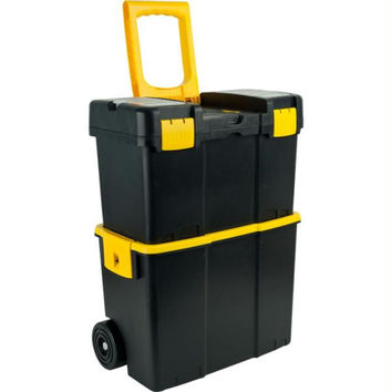 Stalwart? Stackable Mobile Tool Box with Wheels