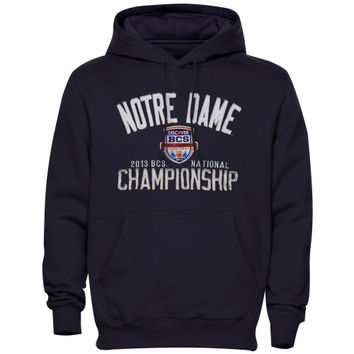 Notre Dame Fighting Irish 2013 BCS National Championship Game Roar Hooded Sweatshirt - Navy Blue - http://www.shareasale.com/m-pr.cfm?merchantID=7124&userID=1042934&productID=540348533 / Notre Dame Fighting Irish