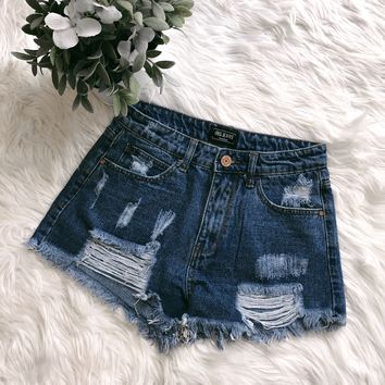 RESTOCKED! Demi High Waisted Distressed Shorts - FULLY STOCKED