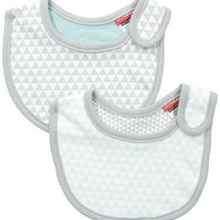 Skip Hop Baby Petite Triangles 2-Piece Bib Set, Blue