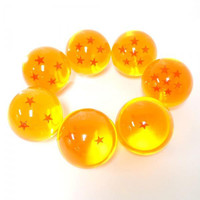 Acrylic Dragon Star Replica Ball Special Edition (7 pieces Complete Set / Large / 7.6 cm)