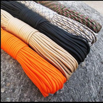 NEW  100 FT Paracord 550 Paracord Parachute Cord Lanyard Rope Military Spec for outdoor camping