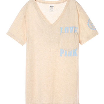 Campus Short Sleeve V-Neck Tee - PINK - Victoria's Secret