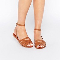 ASOS FIFI Woven Leather Sandals at asos.com