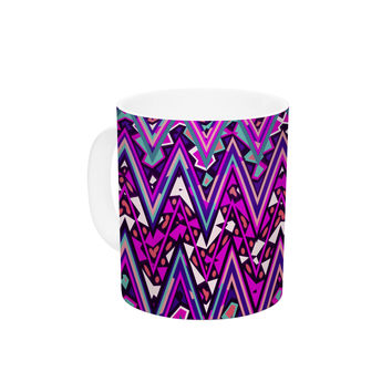 "Nika Martinez ""Pink Electric Chevron"" Ceramic Coffee Mug"