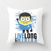 Live Long and Minion Throw Pillow by LookHUMAN