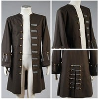 Pirates Of The Caribbean Hot Movie Captain Jack Sparrow Halloween Carnival Costumes Jacket Only Coat Cosplay Costume Adult Men