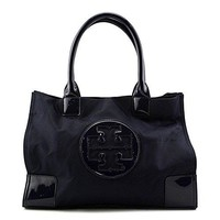 Tory Burch Ella Color-Block Mini Tote (French Navy)