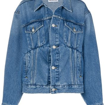 Ladies Classic Collar Denim Jacket by Balenciaga