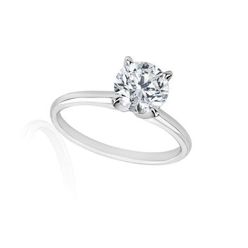 3/4 Carats Solitaire Diamond Engagement Ring GH/SI1-SI2 14K Yellow Gold & White Gold
