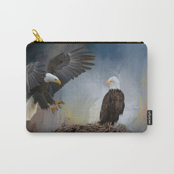 Eagles Nest Carry-All Pouch by Theresa Campbell D'August Art