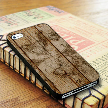 Old World Map Wood iPhone 4 | iPhone 4S Case