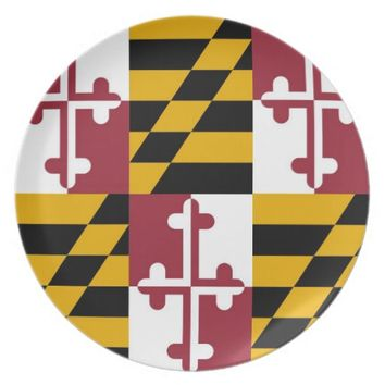 Maryland State Flag Plate