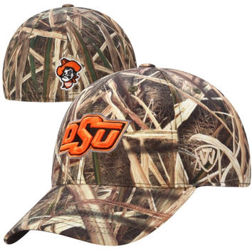 Oklahoma State Cowboys Top of the World Blades Memory Fit Flex Hat – Camo