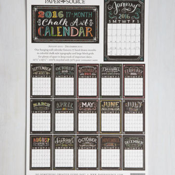 Dorm Decor Pleasurable Planning 2015-2016 Wall Calendar by ModCloth