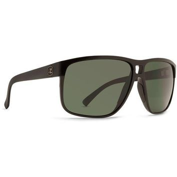VonZipper Blotto Sunglasses Black Vintage with Grey Lens
