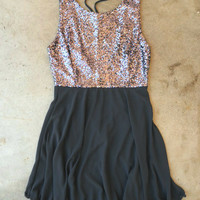 Whimsy & Sparkle Dress in Charcoal [3545] - $28.80 : Vintage Inspired Clothing & Affordable Summer Frocks, deloom | Modern. Vintage. Crafted.